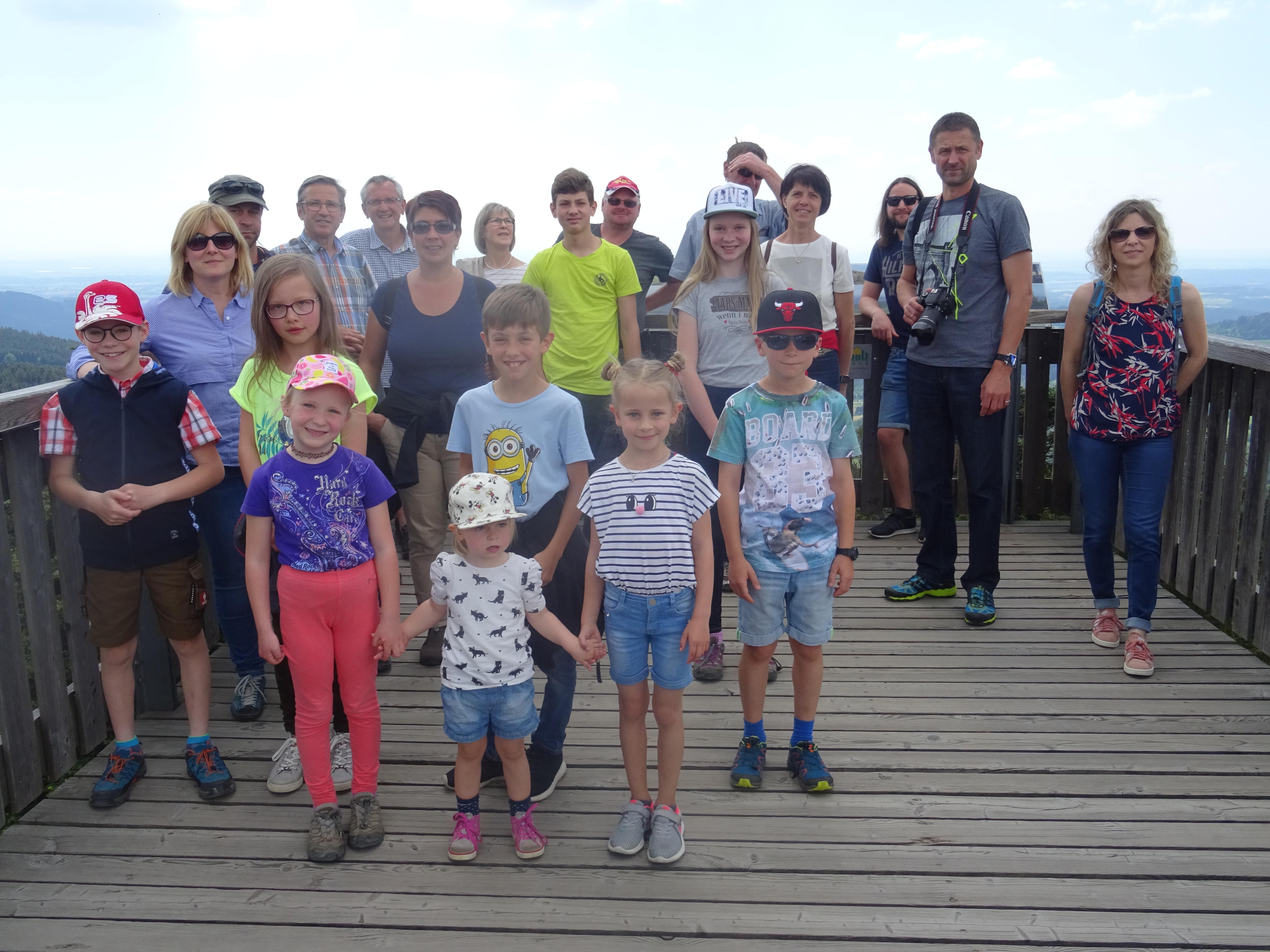 Waldwipfelweg Muttertagsausflug St. Englmar mit Kindern und Jugendlichen des Nordic Team Klingenbrunns. Foto: Nordic Team Klingenbrunn