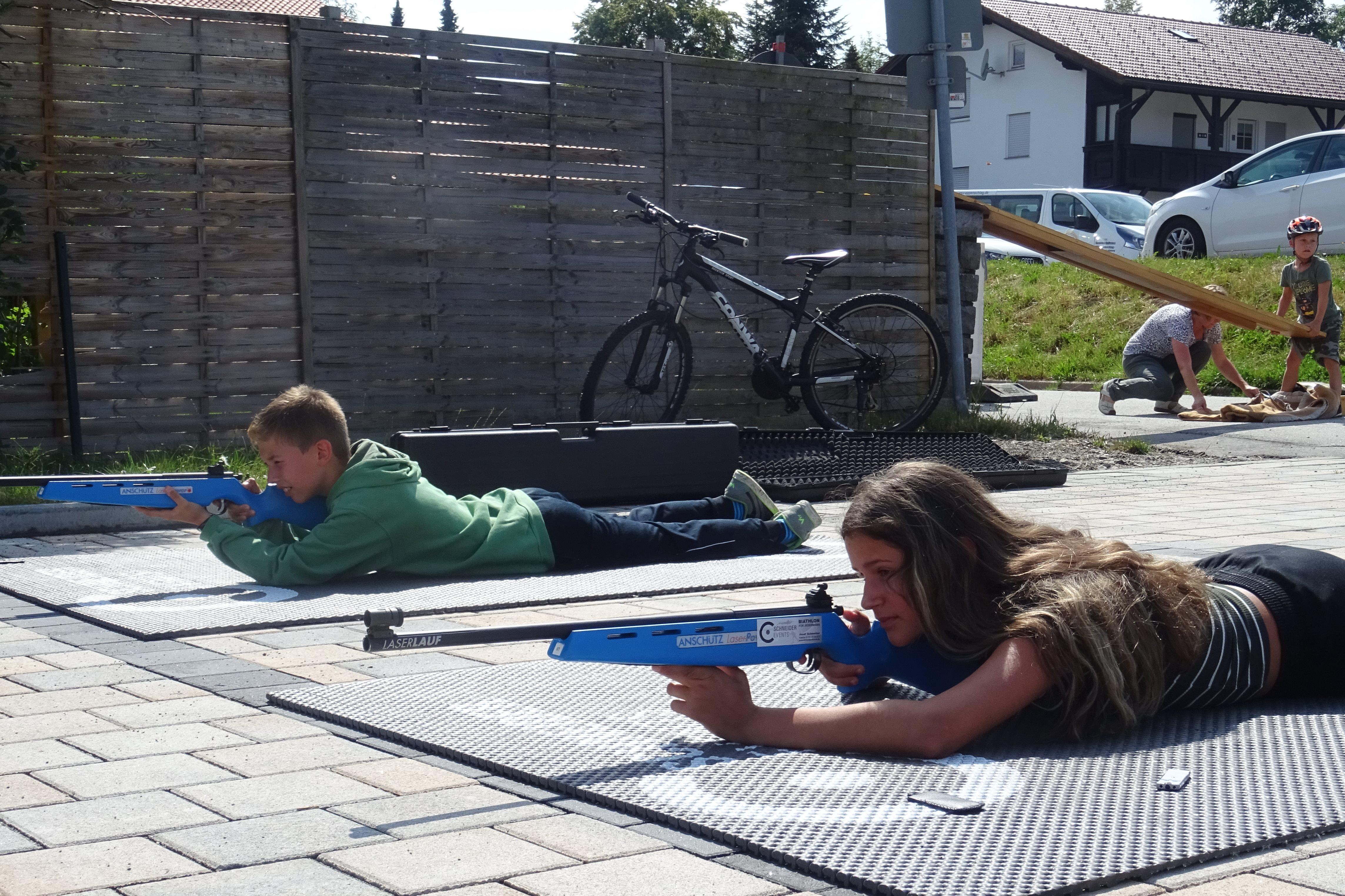 Die Biathlonanlage war heiß begehrt