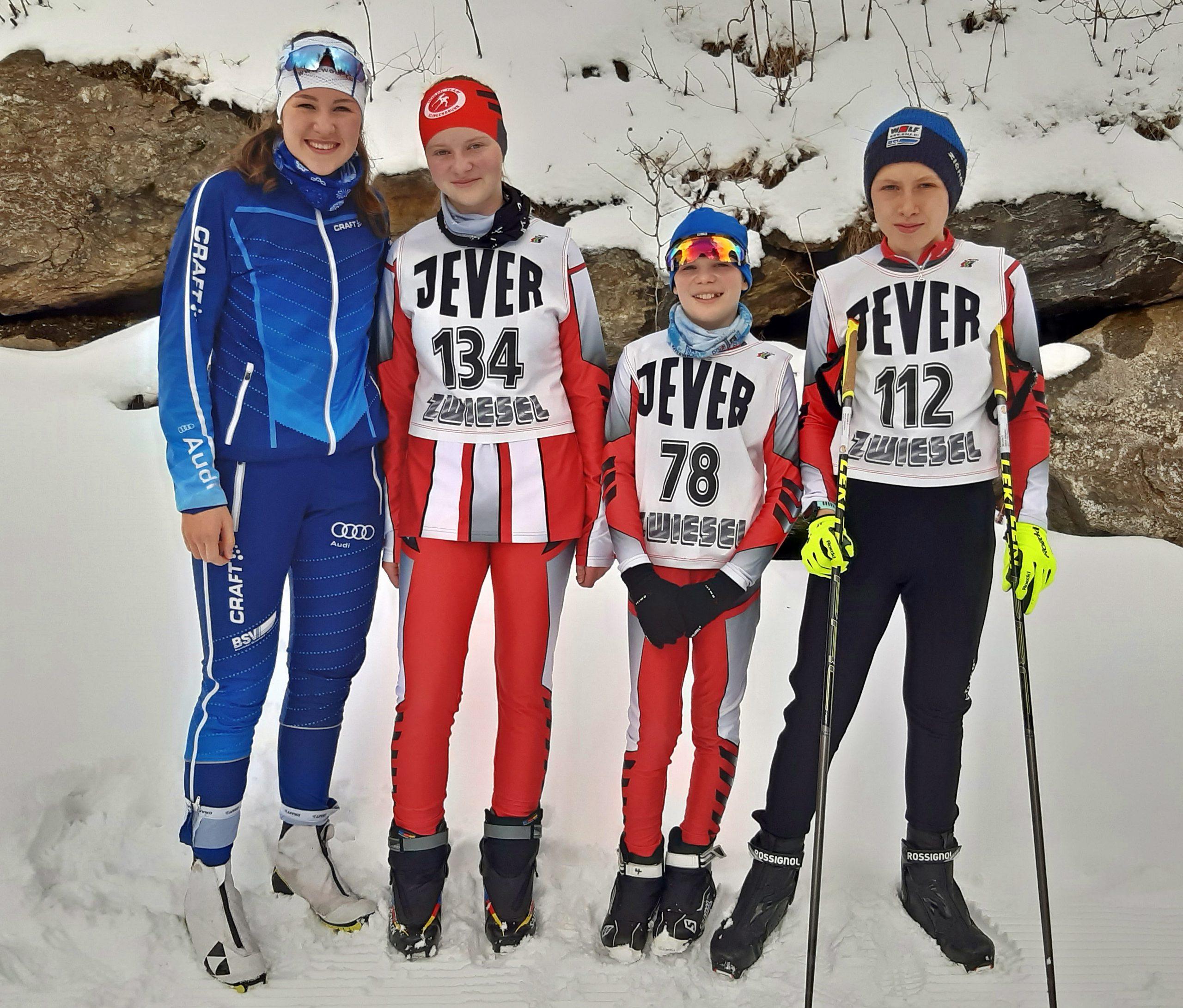 Mit noch vier Startern konnte das NTK am vorläufig letzten Rennen am 8. März des SC Zwiesel antreten